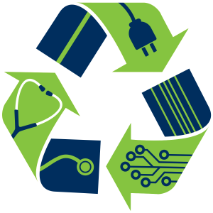 Electronic Waste Recycling Logo