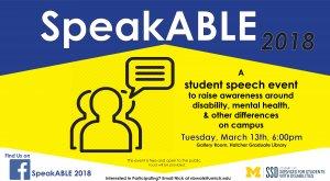 speakABLE event flyer