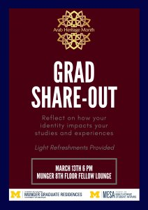 Flyer for Graduate Share-Out