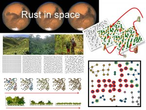 diagrams and photos depicting rust in space