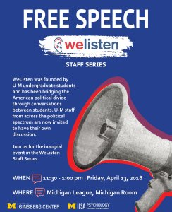 WeListen Staff Free Speech