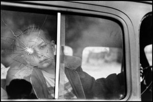 Elliott Erwitt, Cracked Glass with Boy—Colorado, 1955, gelatin silver print. University of Michigan Museum of Art, Gift of Gerald Lotenberg, 1981/2.194.2, © Elliott Erwitt / Magnum Photos