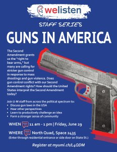 Guns in American WeListen Discussion Flyer