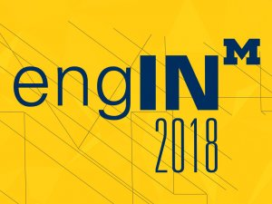 engIN 2018 logo in blue on a maize background