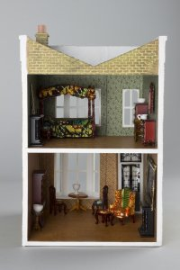 Yinka Shonibare MBE, Untitled (Dollhouse), 2002, wood, fabric, paper, plastic, metal, resin, offset lithograph. University of Michigan Museum of Art, Gift of Peter Norton Family Foundation, 2002/1.236 © Yinka Shonibare MBE. All Rights Reserved, Peter Norton Family Foundation, 2018. Photography: Charlie Edwards