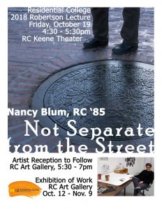 Nancy Blum: Not Separate from the Street