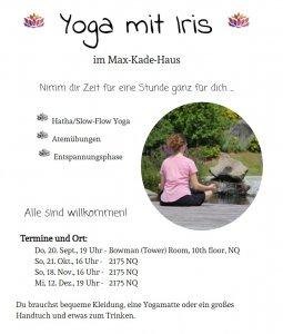 yoga auf deutsch