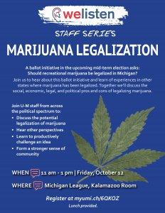 Marijuana Legalization Flyer