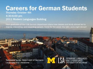 Careers for German Students