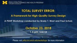 flyer for Total Survey Error