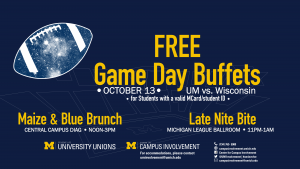 Free Gameday Buffets!
