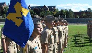 ROTC folds flag