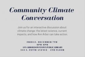 Community Climate Conversation Flyer