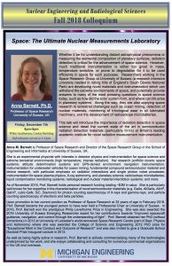 flyer of NERS Colloquium: Anna Barnett