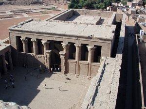 Egyptian courtyard