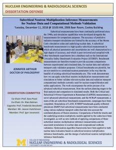 Jennifer Arthur PhD Defense flyer