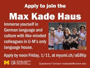max kade ay 2019-20 application deadline 1/11/19