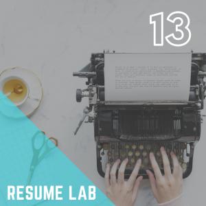 CSP Workshop: Resume Lab