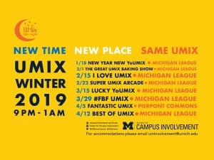 UMix Winter Schedule