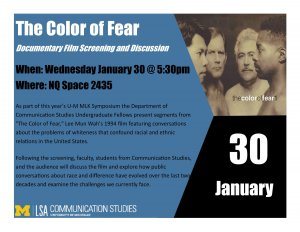 Color of Fear flyer