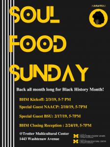 Soul Food Sunday Flyer