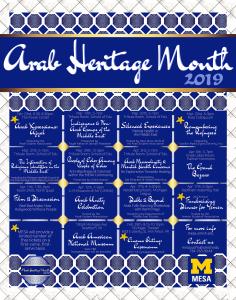 Arab Heritage Month Calendar