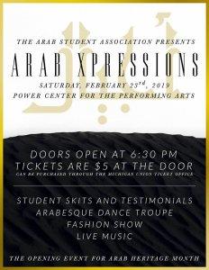 Arab Xpressions Flyer