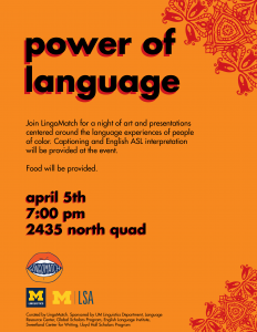 Power of Language flyer