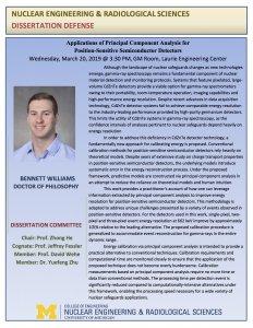 Bennett Williams PhD Defense flyer