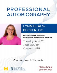Lynn Beals-Becker flyer