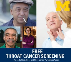 Free Throat Cancer Screening Clinic
