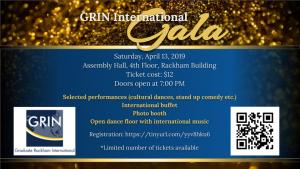 GRIN International Gala Flyer