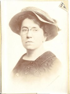 Photo of Emma Goldman, held in the Joseph A. Labadie Collection, U-M Library