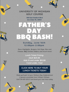 Father's Day BBQ Bash | UM Golf Course