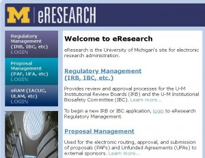 eResearch home page