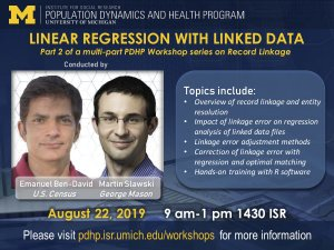 poster for Linear Regression With Linked Data