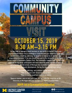 Community Campus Visit Flyer