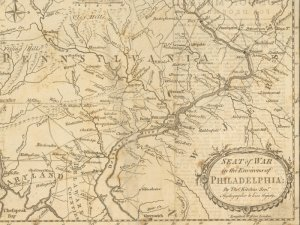 Seat of war in the environs of Philadelphia (1777)