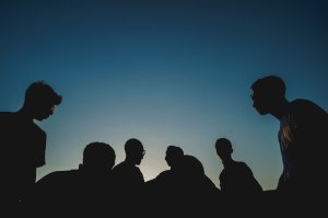 People in silhouette