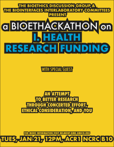 I. Health Research Funding