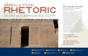 Verbal and Visual Rhetoric in 3rd Millennium BCE Egypt