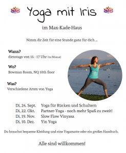 fall 2019 Yoga mit Iris flyer