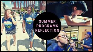Summer programs reflection logo