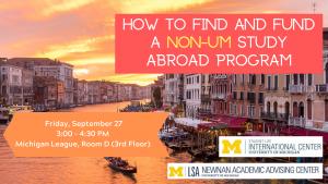 Non-UM Study Abroad Program