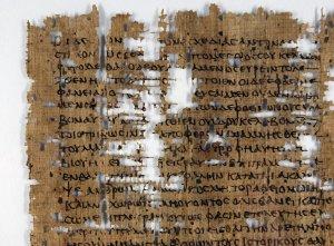 Detail of Alcidamas' On Homer, P. Mich. inv. 2754