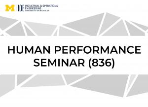 """Human Performance Seminar"" text"