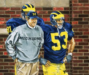 Coach Lloyd Carr by Jeff Joseph, photograph by the artist.