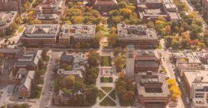 University of Michigan campus- aerial view