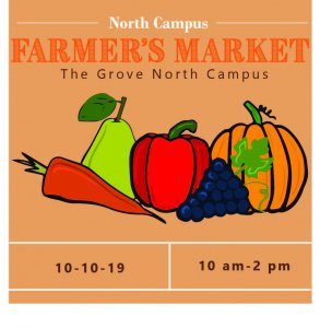 Event information for the 2019 North Campus Farmer's Market