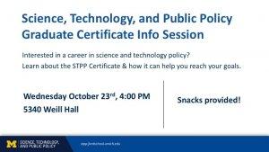 Information Session promotional slide